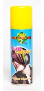 Laque cheveux jaune en spray 125 ml