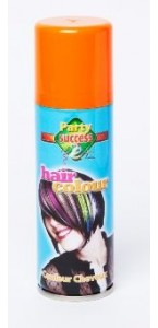 Laque cheveux orange en spray 125 ml