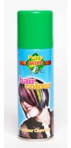 Laque cheveux verte en spray de 125 ml