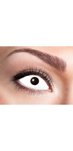 Lentilles œil blanc Halloween 8 mois