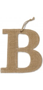 Lettre B en jute 15,5 cm