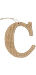 Lettre C en jute 15,5 cm