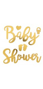 Lot d'Autocollants baby shower 11 x 6 / 12,5 x 5 cm