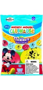 Lot de 10 ballons double attache Mickey en latex 30 cm