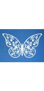 Lot de 10 décorations papillon blanc dentelle fleur 8 x 5 cm