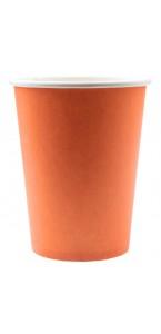 Lot de 10 gobelets en carton orange 9,7 x 7,5 cm