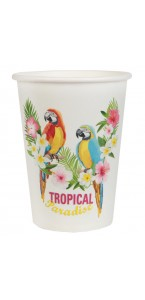 Lot de 10 gobelets Tropical 7,8 x 9,7 cm