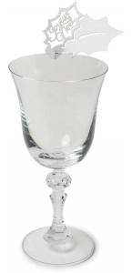Lot de 10 marque-verre Joyeux Noël 8 x 5,5 cm