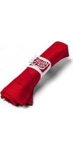 Lot de 10 ronds de serviettes Joyeux Noël 18 x 5 cm