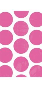 Lot de 10 sachets transparent à pois rose