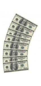 Lot de 10 serviettes jetables 100 dollards en papier