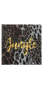 Lot de 10 serviettes jetables Jungle tropical 33 x 33 cm
