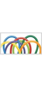 Lot de 100 balllons en latex à modeler multicolore
