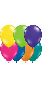 Lot de 100 ballons de baudruche en latex opaque multicolore