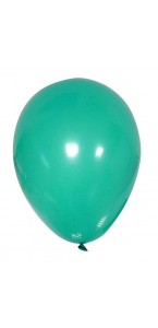 Lot de 100 ballons en latex opaque turquoise