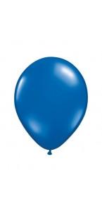 Lot de 100 mini-ballons de baudruche en latex nacré bleu