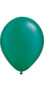 Lot de 100 mini-ballons de baudruche en latex nacré vert
