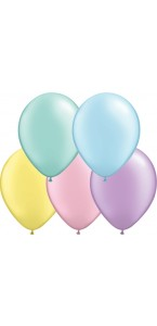Lot de 100 mini ballons multicolores pastels