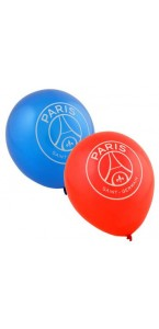 Lot de 11 ballons PSG en latex coloris assortis