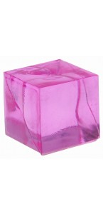 Lot de 12 cubes fuschia transparents