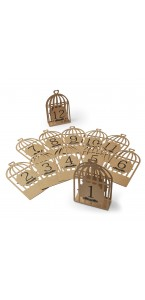 Lot de 12 Marque -table cage kraft 11 x 17 cm