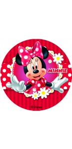 Lot de 12 mini disques déco azyme Minnie 4,5 cm
