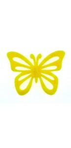 Lot de  12 papillons stickers jaunes