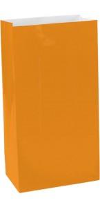 Lot de 12 Sachets à bonbons orange Halloween