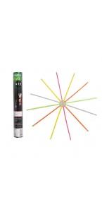 Lot de 15 Bracelets lumineux fluorescents multicolores