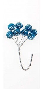 Lot de 16 tiges boules diams bleues