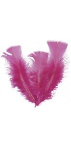 Lot de 18 plumes fuschia  14 cm