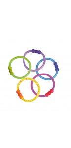 Lot de 2 bracelets fluo pailletés