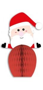 Lot de 2 Chapeaux de Noël alvéolés 22 x 26 cm