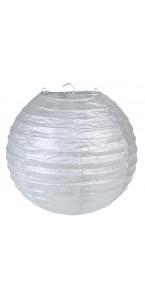 Lot de 2 lanternes  chinoises en papier argent 20 cm