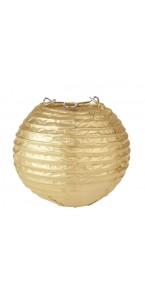 Lot de 2 lanternes chinoises en papier or 7,5 cm