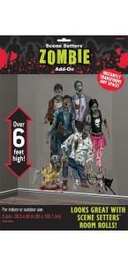 Lot de 2 scene setter Zombie 1,65 m x 85 cm