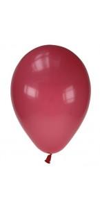 Lot de 20 ballons de baudruche en latex opaque framboise