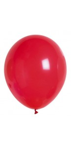 Lot de 20 ballons de baudruche en latex opaque rouge