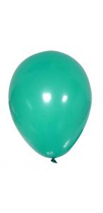 Lot de 20 ballons de baudruche en latex opaque turquoise