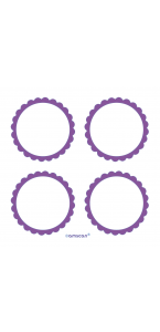 Lot de 20 Etiquettes Candy buffet violette