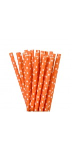 Lot de 20 pailles orange en carton