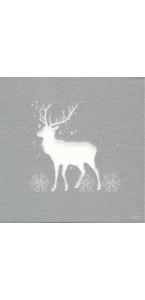 Lot de 20 serviettes Cerf intissé 25 x 25 cm