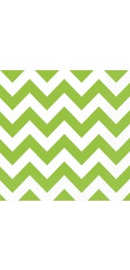 Lot de 20 serviettes Chevron kiwi 33 x 33 cm