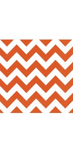 Lot de 20 serviettes Chevron orange 33 x 33 cm