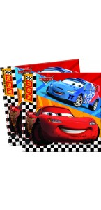 Lot de 20 serviettes en papier Cars