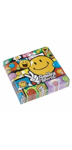 Lot de 20 serviettes en papier Smiley Comic 33 x 33 cm