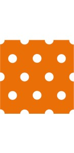 Lot de 20 serviettes intissé orange à pois 25 x 25 cm