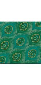 Lot de 20 serviettes intissée Paon 40 x 40 cm