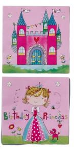 Lot de 20 serviettes jetables Anniversaire Princesse