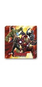 Lot de 20 serviettes jetables Avengers en papier 33 x 33 cm